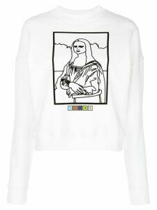 Maisie Wilen Mona Lisa line-print sweatshirt - White