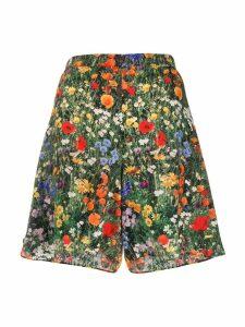 Stella McCartney floral A-line shorts - Green