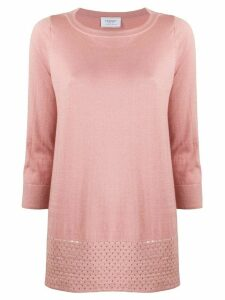 Snobby Sheep cropped sleeve loose fit top - PINK