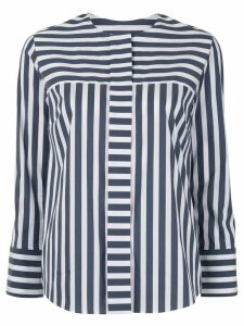Tomorrowland striped poplin shirt - Blue