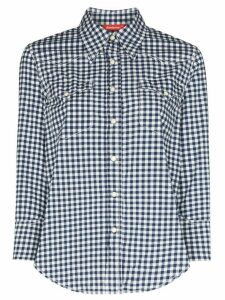 Denimist Shrunken Cowboy gingham print shirt - White
