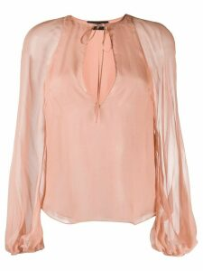 Dsquared2 tie-neck long-sleeved blouse - PINK