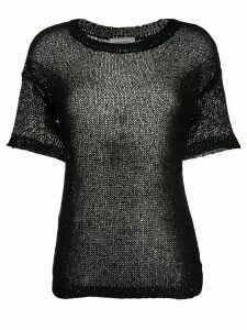 Snobby Sheep sheer sequin-embellished top - Black