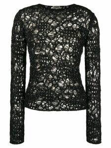 Saint Laurent sequinned crochet jumper - Black