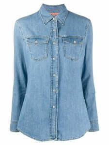 Acne Studios pointed collar denim shirt - Blue