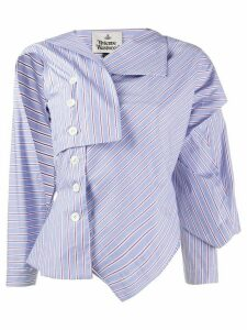 Vivienne Westwood Anglomania asymmetric striped shirt - Blue