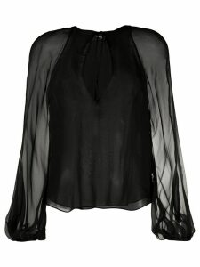 Dsquared2 tie-neck long-sleeved blouse - Black