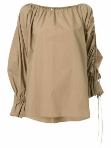 CAMILLA AND MARC Parker ruched cotton blouse - Brown