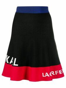 Karl Lagerfeld color-block logo skirt - Black