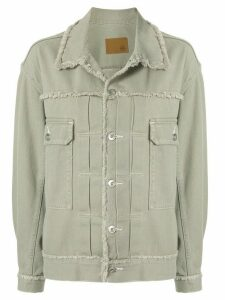 G.V.G.V. fringed twill jacket - Green