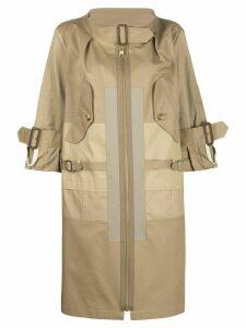 Junya Watanabe zipped parka coat - NEUTRALS