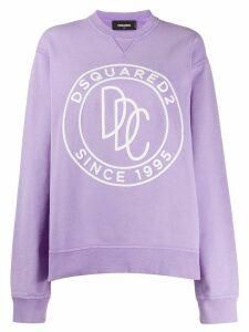 Dsquared2 logo print sweatshirt - PURPLE