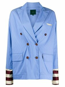 Jejia double-breasted striped blazer - Blue