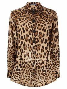 Dolce & Gabbana leopard print blouse - Brown