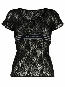 Dolce & Gabbana lace logo band T-shirt - Black