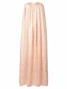 Acler Haslam snake-print flared dress - NEUTRALS