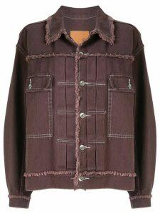 G.V.G.V. fringed twill jacket - PURPLE