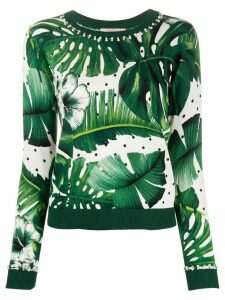 Twin-Set tropical print jumper - Green