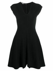 Stella McCartney deep V-neck skater dress - Black