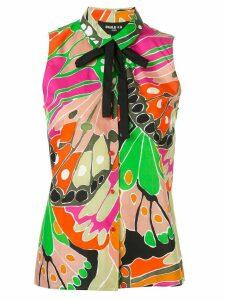 Paule Ka butterfly print poplin shirt - Multicolour