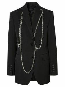 Burberry chain-detail blazer - Black