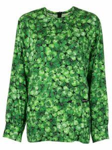 Dolce & Gabbana clover print blouse - Green