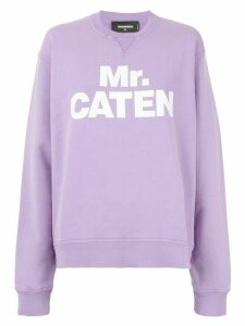 Dsquared2 Mr. Caten print sweatshirt - PURPLE