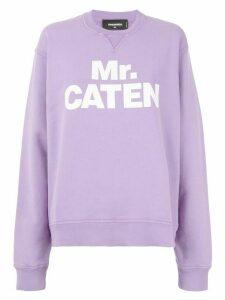 Dsquared2 Mr. Caten print sweatshirt - PURPLE