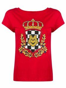 Love Moschino crest print T-shirt - Red