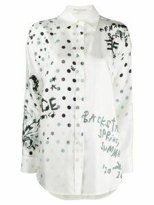 Ermanno Scervino polka dot print shirt - White
