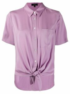 Theory knotted short sleeved shirt - PURPLE