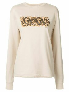 G.V.G.V. printed logo long-sleeve T-shirt - Brown