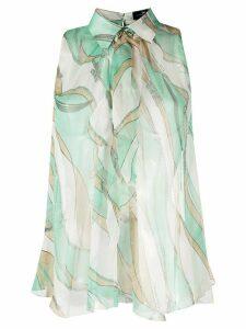 Elisabetta Franchi silk abstract print blouse - Green
