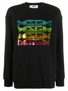 MSGM sequined logo sweatshirt - Black