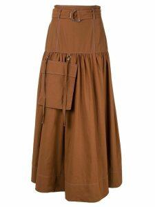 G.V.G.V. high-waisted utility skirt - Brown