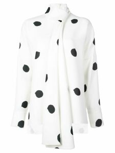 Tibi polka dot blouse - White