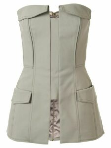 Dion Lee pocket bustier top - Green