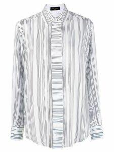 Piazza Sempione striped-print long-sleeved shirt - White
