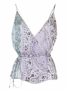 AMIRI paisley-print tie blouse - PURPLE