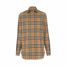 Burberry Satin Stripe Vintage Check Shirt