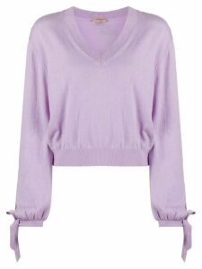 Twin-Set fine knit jumper - PURPLE