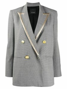 Pinko double-breasted contrast trim jacket - White