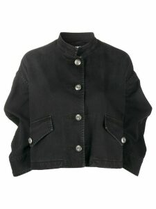Miu Miu collarless cropped jacket - Black