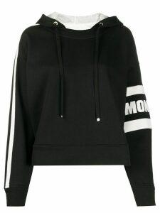 Moncler logo detail hoodie - Black