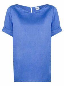 Aspesi short sleeve boxy fit top - Blue