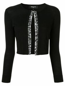 Paule Ka cropped fringed cardigan - Black