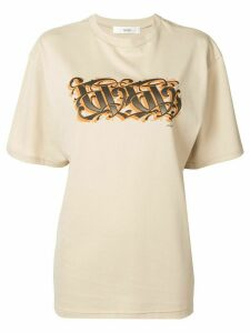 G.V.G.V. logo print T-shirt - Brown
