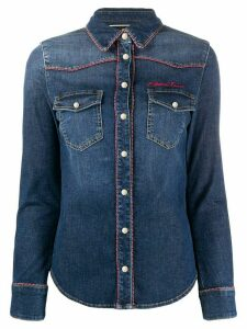 Elisabetta Franchi piped denim shirt - Blue