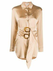Matériel asymmetric belted blouse - NEUTRALS