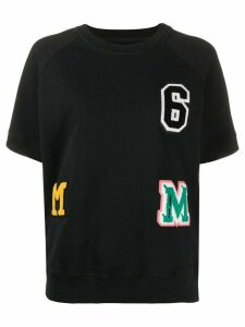 Mm6 Maison Margiela patch detail T-shirt - Black